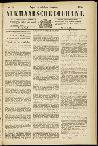 Alkmaarsche Courant 1887-03-13