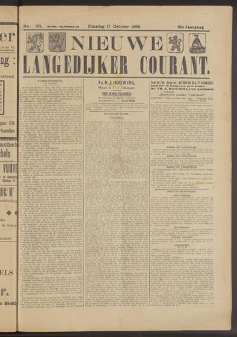 Nieuwe Langedijker Courant 1922-10-17