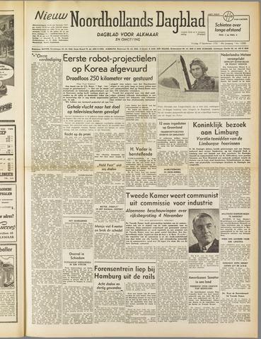 Nieuw Noordhollandsch Dagblad : voor Alkmaar en omgeving 1952-09-19