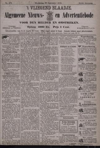 Vliegend blaadje : nieuws- en advertentiebode voor Den Helder 1875-09-29