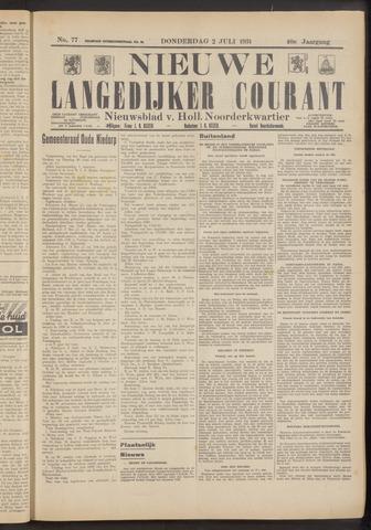 Nieuwe Langedijker Courant 1931-07-02