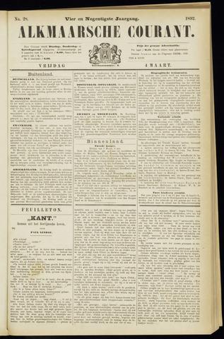 Alkmaarsche Courant 1892-03-04