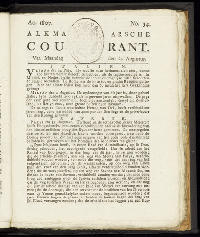 Alkmaarsche Courant 1807-08-24