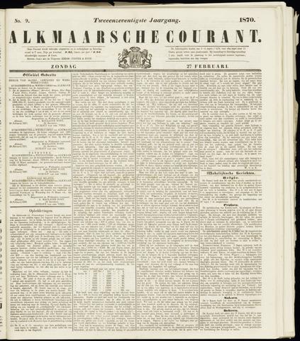Alkmaarsche Courant 1870-02-27