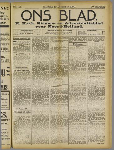 Ons Blad : katholiek nieuwsblad voor N-H 1909-12-18