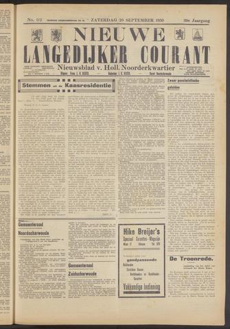 Nieuwe Langedijker Courant 1930-09-20