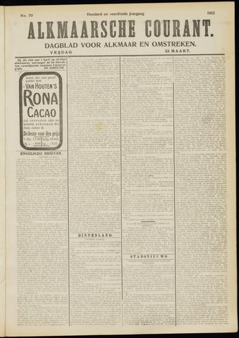 Alkmaarsche Courant 1912-03-22