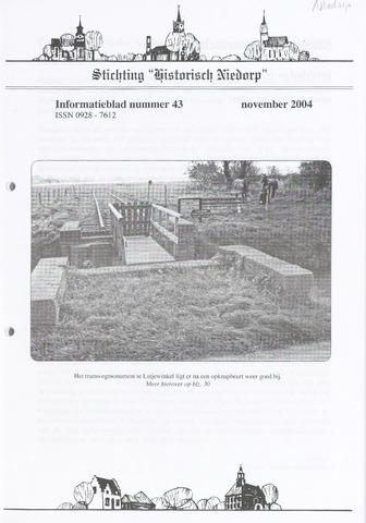 Informatieblad stichting Historisch Niedorp 2004-11-01