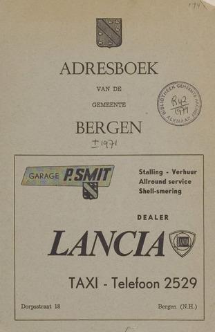 Adresboek van Bergen 1971-01-01