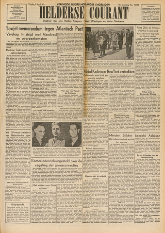 Heldersche Courant 1949-04-01