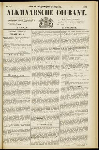 Alkmaarsche Courant 1891-11-29