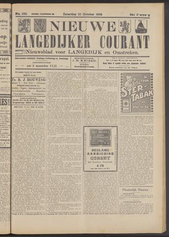 Nieuwe Langedijker Courant 1925-10-10