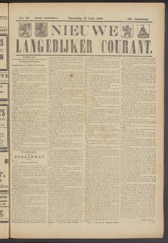 Nieuwe Langedijker Courant 1920-06-12