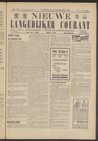 Nieuwe Langedijker Courant 1930-12-13