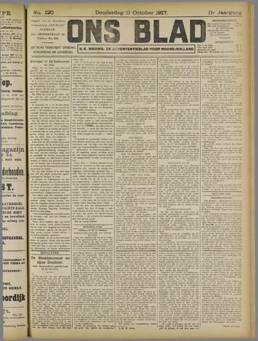 Ons Blad : katholiek nieuwsblad voor N-H 1917-10-11
