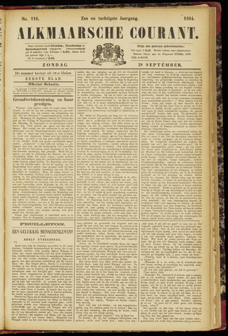 Alkmaarsche Courant 1884-09-28