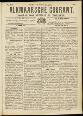 Alkmaarsche Courant 1906-09-14