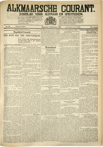 Alkmaarsche Courant 1933-09-04