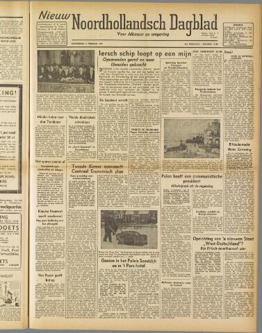 Nieuw Noordhollandsch Dagblad : voor Alkmaar en omgeving 1947-02-06