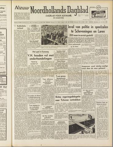 Nieuw Noordhollandsch Dagblad : voor Alkmaar en omgeving 1951-08-04