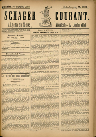 Schager Courant 1888-08-30