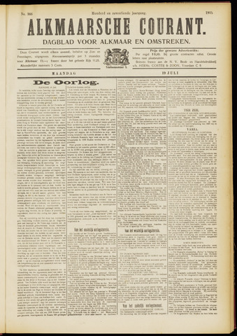 Alkmaarsche Courant 1915-07-19
