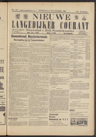 Nieuwe Langedijker Courant 1931-11-17