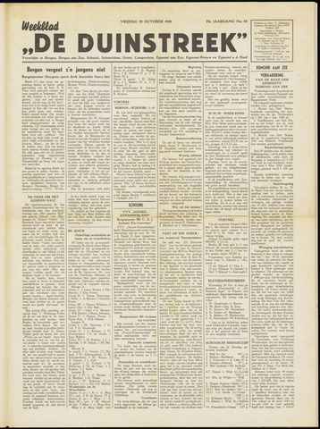 De Duinstreek 1948-10-29