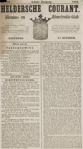 Heldersche Courant 1868-10-17