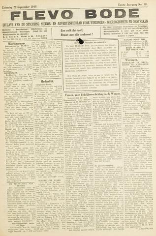 Flevo-bode: nieuwsblad voor Wieringen-Wieringermeer 1946-09-28