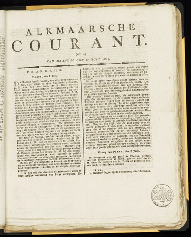 Alkmaarsche Courant 1815-07-17