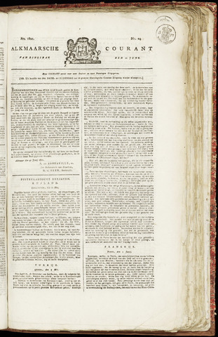 Alkmaarsche Courant 1821-06-12