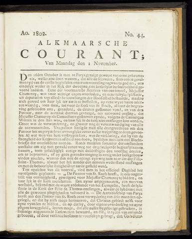Alkmaarsche Courant 1802-11-01