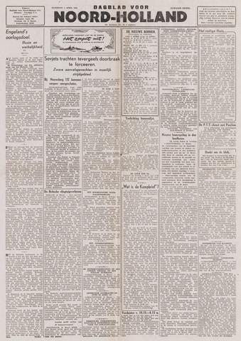 Dagblad Noord-Holland, Schager editie 1944-04-01