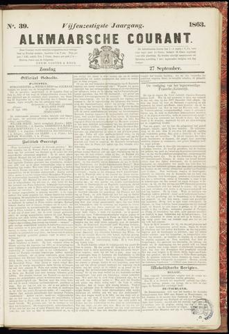 Alkmaarsche Courant 1863-09-27
