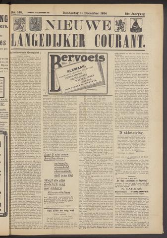 Nieuwe Langedijker Courant 1924-12-11