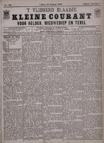 Vliegend blaadje : nieuws- en advertentiebode voor Den Helder 1880-01-23