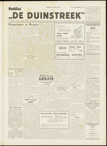 De Duinstreek 1958-08-22