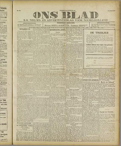 Ons Blad : katholiek nieuwsblad voor N-H 1921-02-23