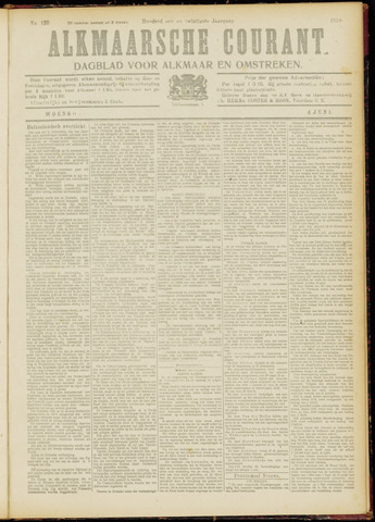 Alkmaarsche Courant 1919-06-04