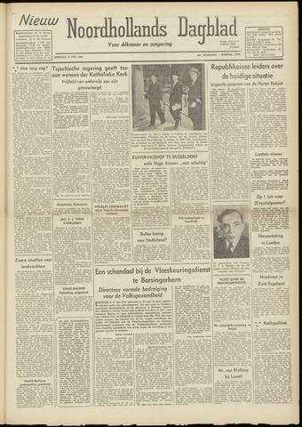Nieuw Noordhollandsch Dagblad : voor Alkmaar en omgeving 1948-06-15