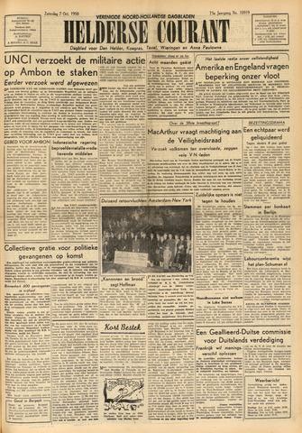 Heldersche Courant 1950-10-07