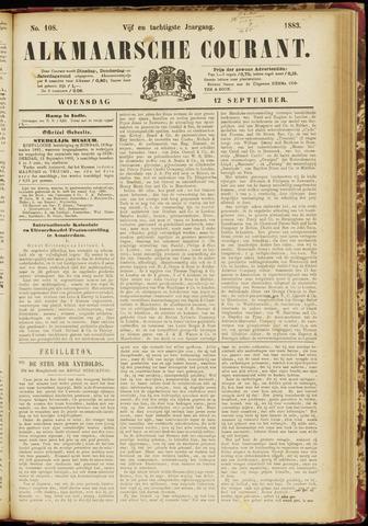 Alkmaarsche Courant 1883-09-12