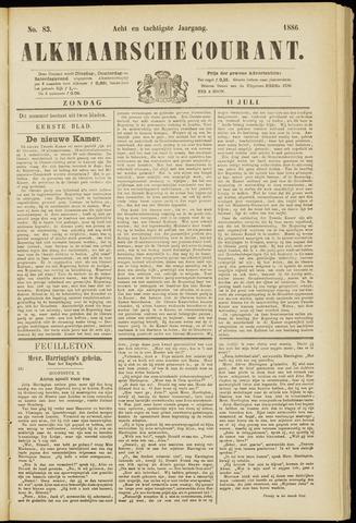 Alkmaarsche Courant 1886-07-11
