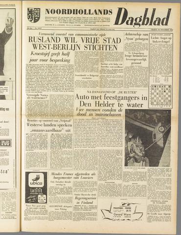 Noordhollands Dagblad : dagblad voor Alkmaar en omgeving 1958-11-28