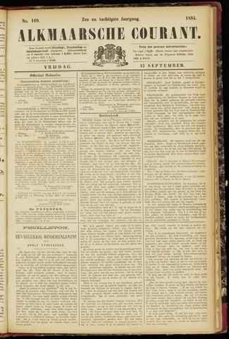 Alkmaarsche Courant 1884-09-12