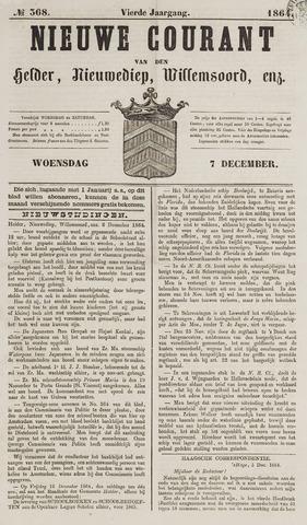 Nieuwe Courant van Den Helder 1864-12-07
