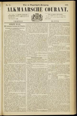 Alkmaarsche Courant 1892-06-24
