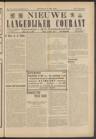 Nieuwe Langedijker Courant 1933-05-09