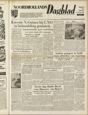 Noordhollands Dagblad : dagblad voor Alkmaar en omgeving 1954-09-23